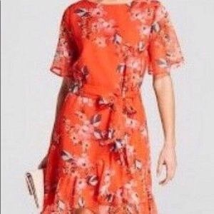 A. New. Day. Orange Floral Dress